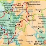 Vue de l'itinéraire du GRP Robe de bure et cotte de mailles