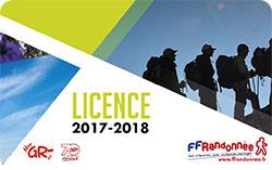 licence FFRandonnée 2017-2018