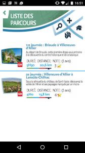 sources et gorges de l'allier GR 470-appli randomobile