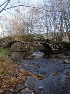 Roche Roselyne pont de la Veisseyre sur l'Auze, commune d'Araules